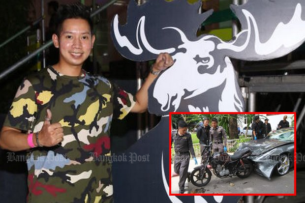 Vorayudh 'Boss' Yoovidhaya reportedly enjoys partying in Europe, Japan and around Thailand, and never has faced charges over the September, 2012, death of a policeman. (Bangkok Post file photo)