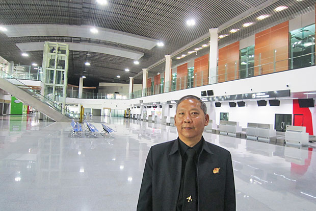 RAdm Worapol says U-tapao's new terminal will start commercial operation in August, but even before its opening, an even larger terminal is being mulled by the government as part of plans to create an air hub on the eastern coast.Photos by Boonsong Kositchotethana
