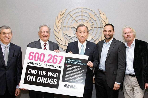 The Global Commission on Drug Policy has attracted several well known personalities in its campaign to end unsuccessful and deadly wars on drugs by world governments.