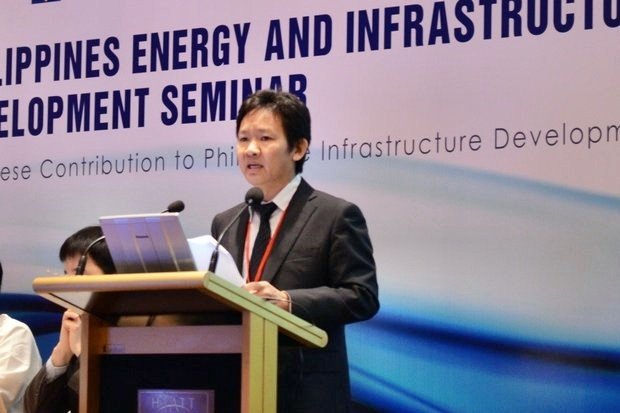 Han Phoumin, seen here speaking to an energy seminar in Manila, is energy economist, Economic Research Institute for Asean and East Asia (ERIA). (Photo via Eria.org)
