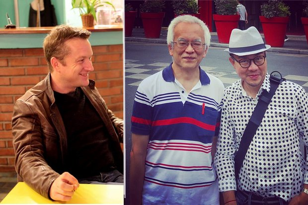 From left, ex-Bangkok journalist Andrew MacGregor Marshall, historian Somsak Jeamteerasakul, academic Pavin Chachavalpongpun. Online contact with any of them could result in charges under the Computer Crime Act. (Photos via Facebook)