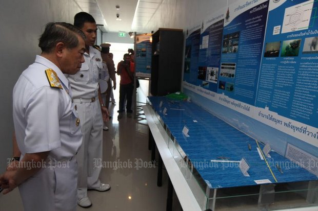 In this 2014 file photo, then-Navy chief Adm Narong Pipattanasai presides over the opening of the Royal Thai Navy's Submarine Squadron at Sattahip naval base. (Photo by Thiti Wannamontha)