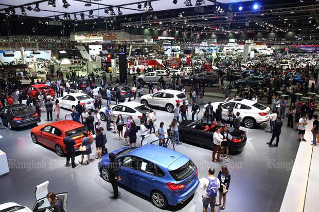 A general view of a motor show in Bangkok. (Bangkok Post file photo)