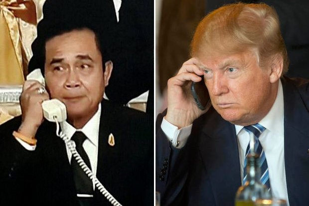 No details were available of the reported plans for a Trump-Prayut discussion on North Korea that the White House said would take place Monday morning, Thailand time. (File photos)