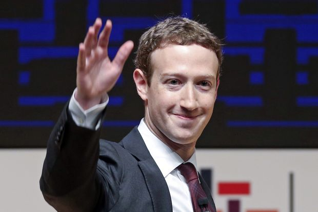 In this Nov 19, 2016 file photo, Mark Zuckerberg, chairman and CEO of Facebook, waves at the CEO summit during the annual Asia Pacific Economic Cooperation forum in Lima, Peru. (AP photo)