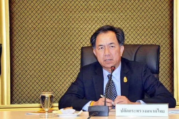 Grisda Boonrach, the Ministry of Interior's permanent secretary, is strongly denying the involvement of the ministry's provincial governors in the Mae Hong Son sex-trafficking scandal. (Photo via PRD)