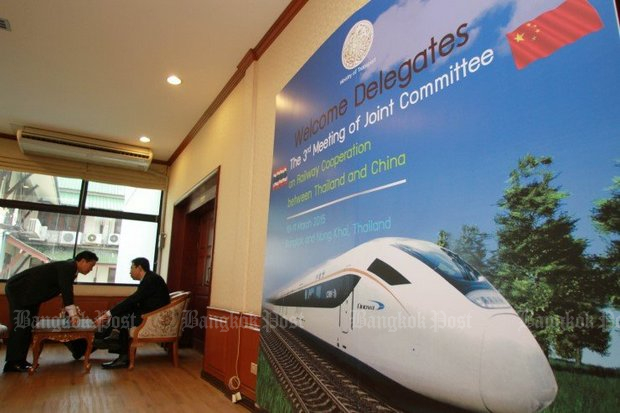 The joint Thai-Chinese railway committee is almost ready to start formalities to build the 3.5km 'train to nowhere' in Nakhon Ratchasima. (Bangkok Post file photo)