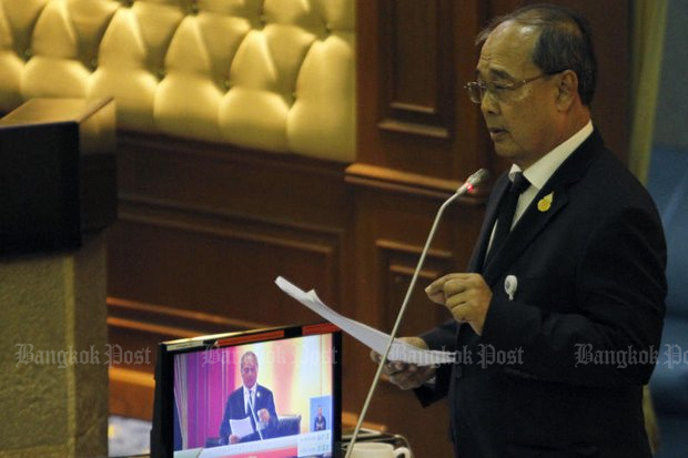 ACM Kanit Suwannate has been the guiding light on bills to control the media and the internet, and has shown no sign of flinching. (Bangkok Post file photo)
