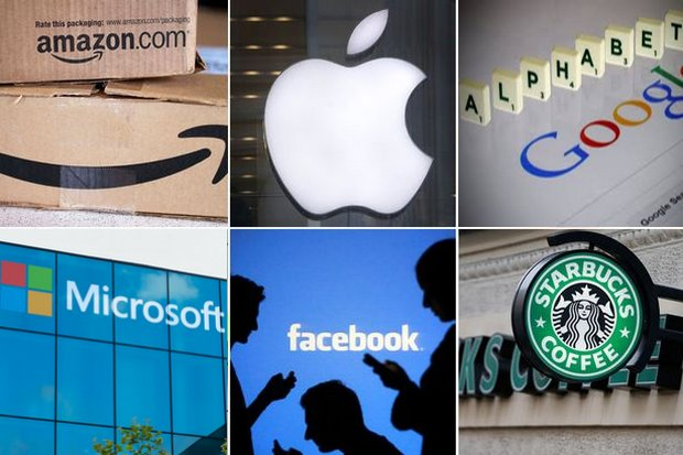 Six of the largest corporations: Familiar names, but without a connection to Thailand or any other country.