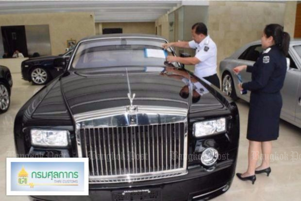 For weeks, the DSI and police have been trying to track down super-luxury cars like this Rolls-Royce, imported with questionable paperwork - including some apparently stolen off British streets and shipped to Thailand. (Photo courtesy DSI)