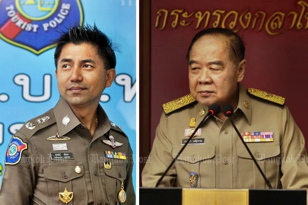The name of Pol Maj Gen Surachet Hakpal has surfaced in reports about alleged buying of promotions within the Royal Thai Police. (File photos)