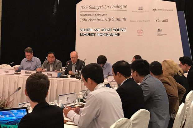 The Southeast Asian Young Leaders' Programme was integrated with the Shangri-La Dialogue in Singapore. (Photo via Twitter/willschoong)