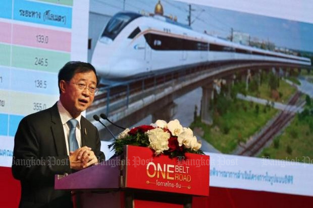 Allaying worries: Transport Minister Arkhom Termpittayapaisith claimed Thailand will not lose territory to China. (Bangkok Post file photo)