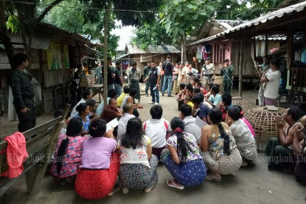 Immigrant workers fearing round-up and punishment were raided at Mae Sot, near the Myanmar border in Tak province. (Post Today photo)
