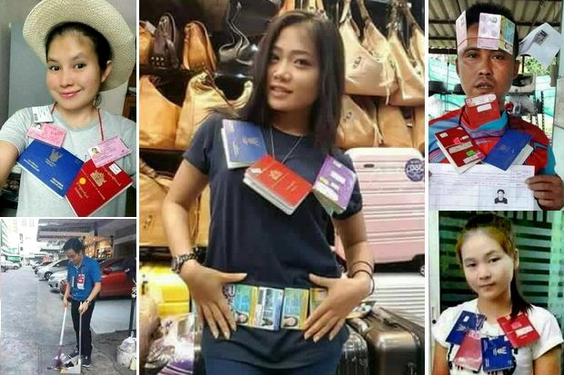 Facebook user Win Zaw Tun had fellow Myanmar workers pose at their workplace with the official Thai government documents and ID cards they require to work, usually for minimum wage.