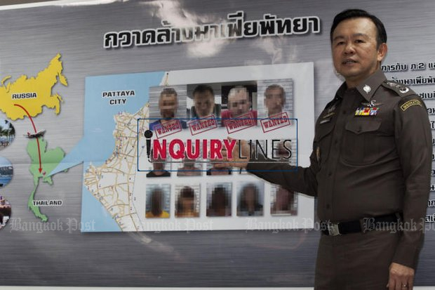 Pol Lt Gen Nathathorn Prousoontorn, author of the now-familiar policy as chief of the Immigration Bureau: Good guys in, bad guys out. He has led crackdowns on foreign criminals seeking to hide out in Thailand, such as four Russians caught last March in Pattaya. (Photo by Pawat Laopaisarntaksin)