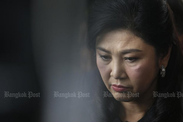 Ex-premier Yingluck Shinawatra says she's not going anywhere and is even prepared for conviction and prison as her Supreme Court case winds up. (Photo by Wichan Charoenkiatpakul)