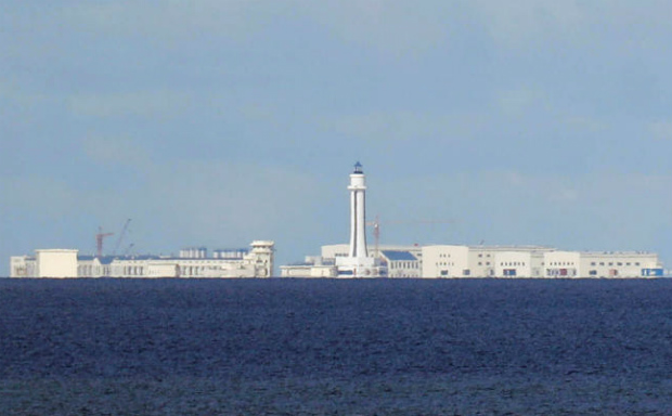Chinese structures are pictured at the disputed Spratly Islands in the South China Sea, April 21, 2017. (Reuters file photo)