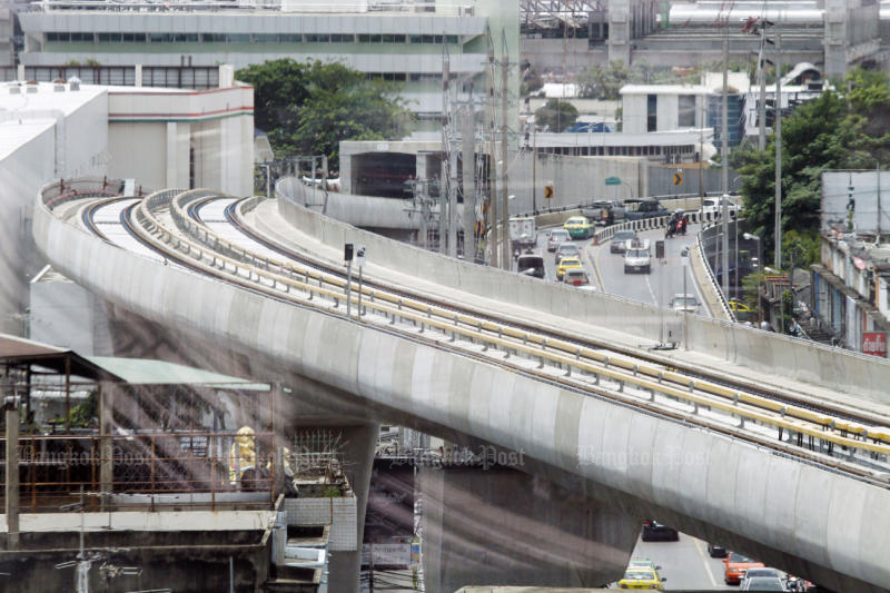 The MRT line extension from Bang Sue to Tao Poon station will connect directly with the Purple LIne from Aug 11. (Photo by Pornprom Satrabhaya)