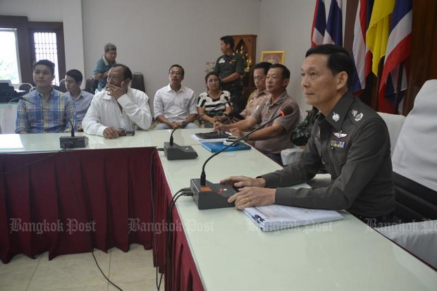 After opening the case and testifying against the 'big fish' in human trafficking in 2015 (above), including high-ranking military officers, Pol Maj Gen Paween got death threats and fled to Australia - where he plans to stay. (Bangkok Post file photo)