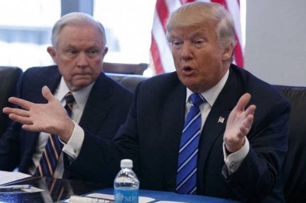 US President Donald Trump is reportedly on the verge of firing his attorney-general, Jeff Sessions. (AP file photo)