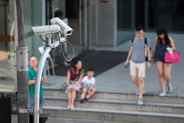 Minister Prayut Chan-o-cha has ordered maintenance on all 300,000 known CCTV countries nationwide, to ensure they work. (Bangkok Post file photo)