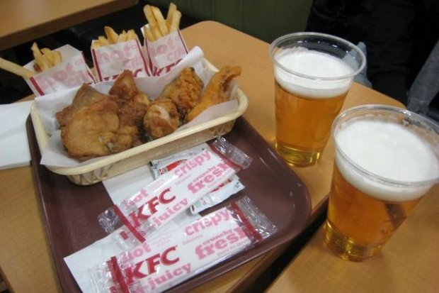 Alcohol kings ThaiBev have bought up all KFC restaurants in Thailand, raising the very unlikely vision of beer with your fast food. (Photo provided)