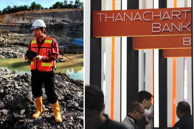 Earth managing director Khajohnpong Khamdee charges Thanachart Bank misused the company's confidential information. (File photos)