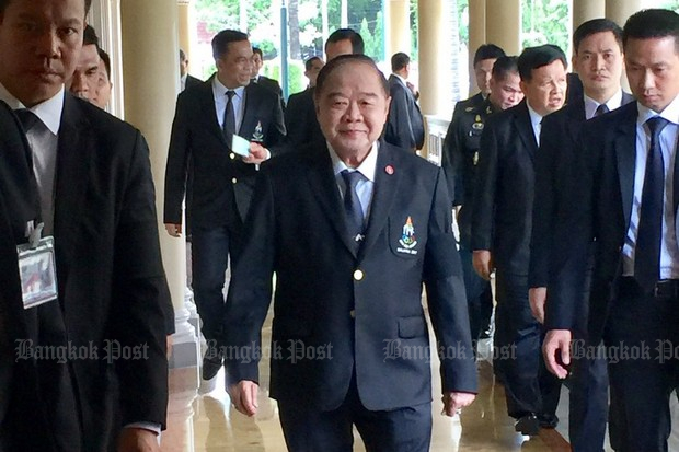 Gen Prawit Wongsuwon, Deputy Prime Minister in charge of security, is taking charge of a recharged war on human trafficking that comes right out of the annual US report. (via Twitter/@wassanananuam)