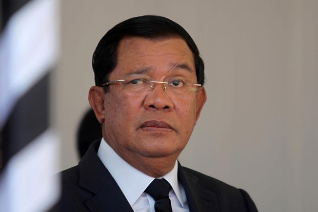 Cambodian Prime Minister Hun Sen attends the funeral of Cambodia's late Deputy Prime Minister Sok An in Phnom Penh on March 19. (Reuters file photo)