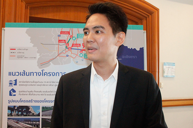 This Thai-Japanese railway project will help increase commuting options for people, upgrade their quality of life and promote tourism in the region, said Junlatep Chitasombuti. (Photo by Sonthanaporn Inchan)