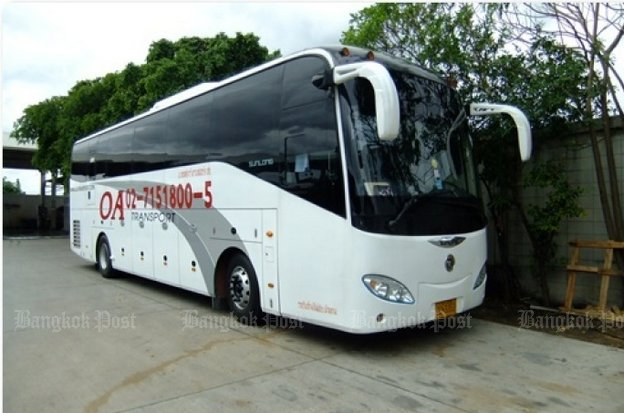 Police seized dozens of OA Transport buses last year when the government announced a crackdown on 'zero-dollar tours' and the family that owns the company has complained of harassment. (File photo)