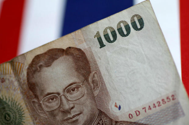 A Thailand Baht note is seen in this illustration photo June 1 2017 (Reuters file photo)