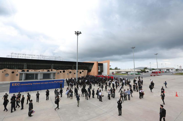 Hundreds of Japanese investors visit U-Tapao airport in Rayong province in mid-September to explore investment opportunities in the EEC. (Photo by Phrakrit Juntawong)