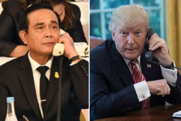 Until now, the two leaders have only talked on the phone, but on Monday night (Thailand time) they will meet at the White House. (File photos)