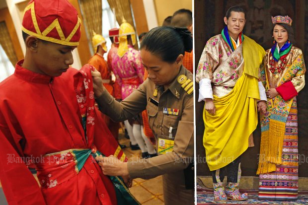 Thousands of Thai soldiers are being fitted in traditional apparel by expert tailors. On Tuesday it was officially announced that the popular King and Queen of Bhutan, His Majesty Jigme Khesar Namgyel Wangchuck and Queen Jetsun Pema will grace the royal funeral ceremonies. (Photos Wichan Charoenkiatpakul, Creative Commons)