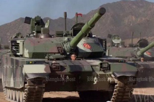 The first batch of 28 VT4 tanks, better known as Main Battle Tanks (MBT3000) arrived on Tuesday at the navy's port at Sattahip in Chon Buri province. After inspection, they will be moved to the Army Cavalry Centre at Adisorn military camp in Saraburi for further checks, before final assignment at the 3rd Cavalry Division. (Photos Twitter/@wassanananuam)