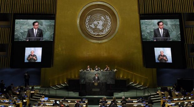When he spoke to the UN General Assembly last year, the prime minister dwelt at length on the Sustainable Development Goals (SDGs) and how to implement them. (File photo)