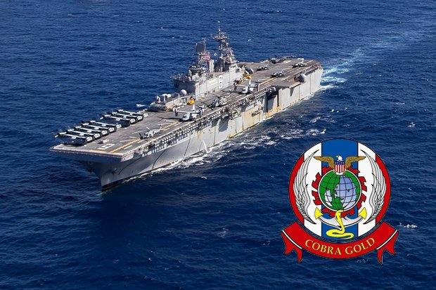 The US Navy's USS Bonhomme Richard will signal the full return of the United States to commitment to Cobra Gold and regional security. (Ship photo US Navy)
