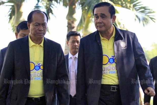 There is no question the two former army commanders have a close relationship, but there is disagreement over whether it is too close. (Bangkok Post file photo by Thanarak Khunton)