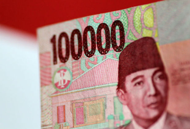 An Indonesia Rupiah note is seen in this picture illustration June 2, 2017. (Reuters photo)
