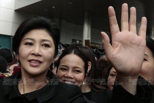 Former prime minister Yingluck Shinawatra has all Thai passports revoked by the Foreign Ministry on Wednesday. (Bangkok Post file photo)