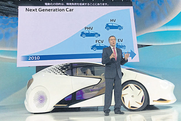 Mr Leroypresented Toyota's concept cars at Tokyo Motor Show 2017.