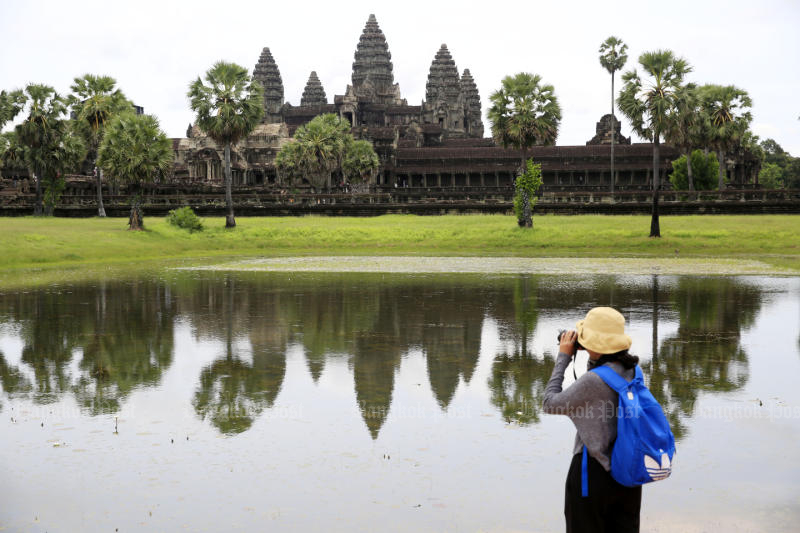 Angkor Wat is a favourite destination in Cambodia for tourists from China. (Post Today photo)