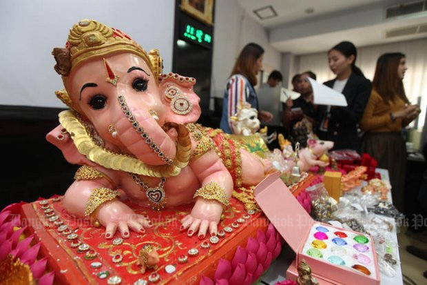 Victims reportedly paid more than 500 million baht to at least three scam artists who convinced them that Ganesha (above) and other 'sacred' talismans were authentic and specially blessed. (Photo by Thiti Wannamontha)