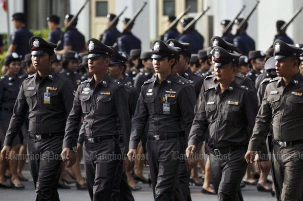 Police have been ordered to take action against 'anti-coup elements' at home and abroad. (Bangkok Post file photo)