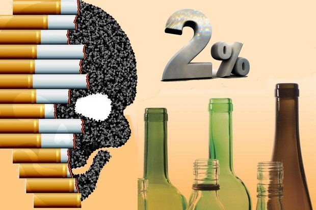 A new law passed Thursday will divert 2% of 'sin taxes' from alcohol and cigarettes into funding pensions for the rapidly increasing number of old people.