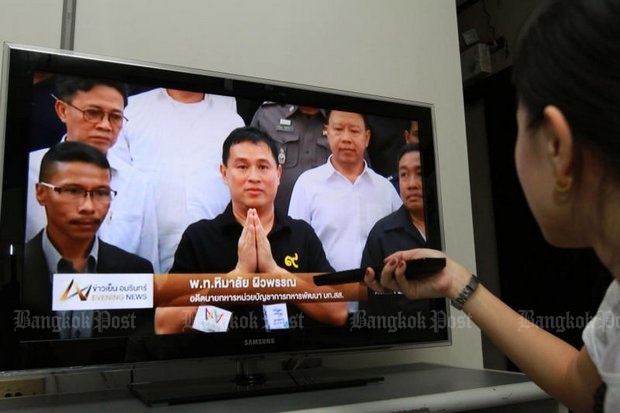 Digital TV operators who signed contracts to pay licensing fees periodically now say they can't afford the payments, and are begging Prime Minister Prayut Chan-o-cha to bail them out by using government funds. (Bangkok Post file photo by Somchai Poomlard)