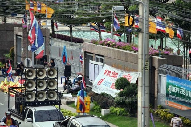 PTT Plc was the target of strong and occasionally violent protests in 2013 by the Bangkok Shutdown group. (File photo by Pattanapong Hirunard)