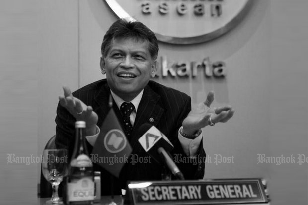 Surin was the unanimous choice as the first secretary-general of Asean, and served from 2008 to 2013. (File photo)